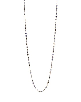 Ela Rae - Diana Coin Beaded Chain Necklace, 42""