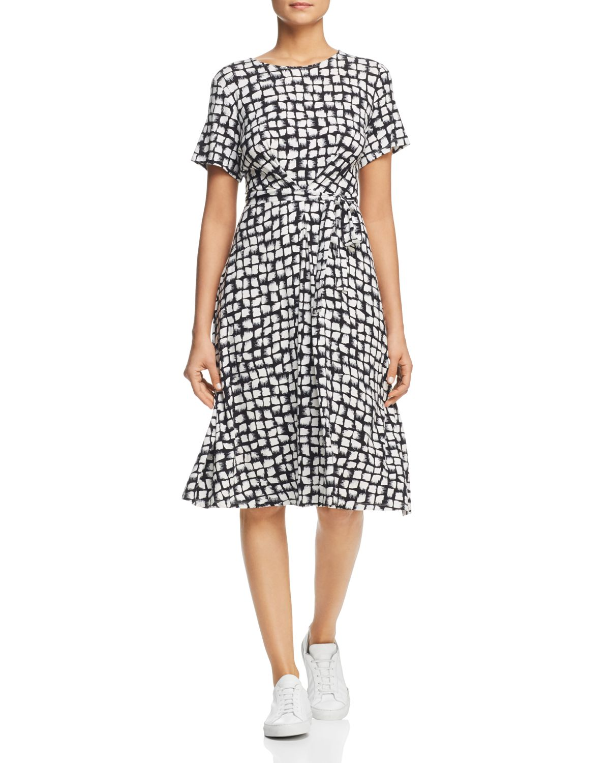 Nazario Belted Brushstroke Print Dress by Weekend Max Mara
