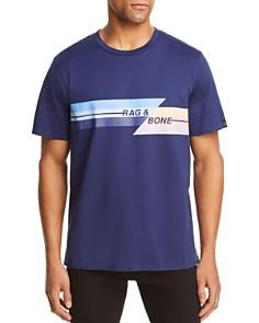rag & bone - Glitch Graphic Logo Tee