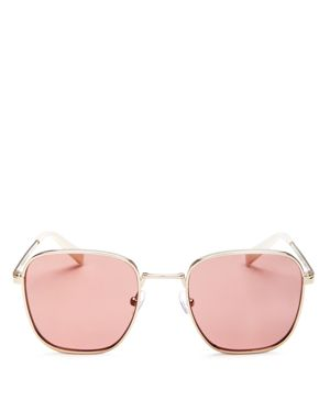 KENDALL AND KYLIE DANA 50MM SQUARE SUNGLASSES - LIGHT GOLD/ PINK ROSE
