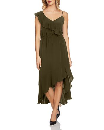 1.STATE - Ruffled Asymmetric Dress