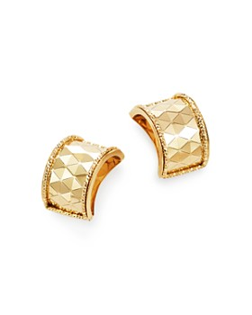 Bloomingdale's - Polished Diamond-Cut Wide Huggie Earrings in 14K Yellow Gold - 100% Exclusive