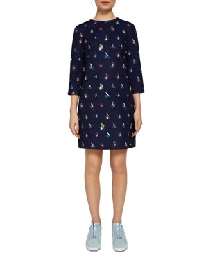 COLOUR BY NUMBERS WANDLE FLY FISH DRESS