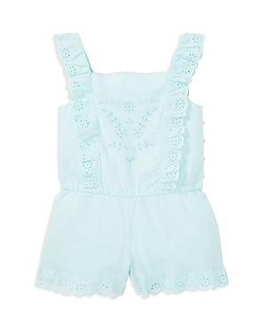 Polo Ralph Lauren Girls' Cotton Eyelet Romper - Little Kid