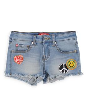 Butter - Girls' Patch-Embellished Cut-Off Denim Shorts - Little Kid