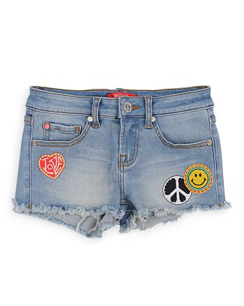 Butter - Girls' Denim Shorts with Patches - Big Kid