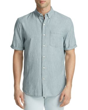 Joe's Jeans John Striped Denim Regular Fit Button-Down Shirt