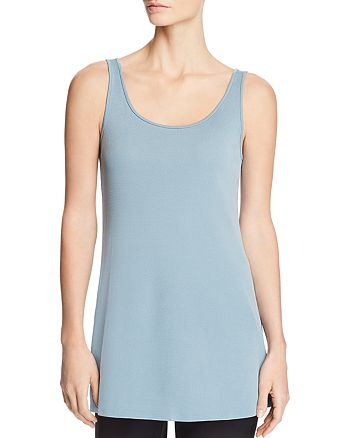 Eileen Fisher Petites - Silk Scoop Neck Tunic