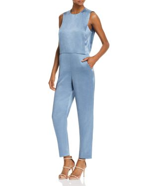 REMALINE PINAFORE SATEEN JUMPSUIT