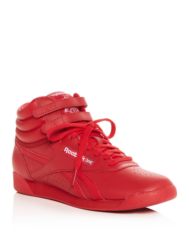 Reebok Women's Freestyle Hi Spirit Leather High Top Sneakers