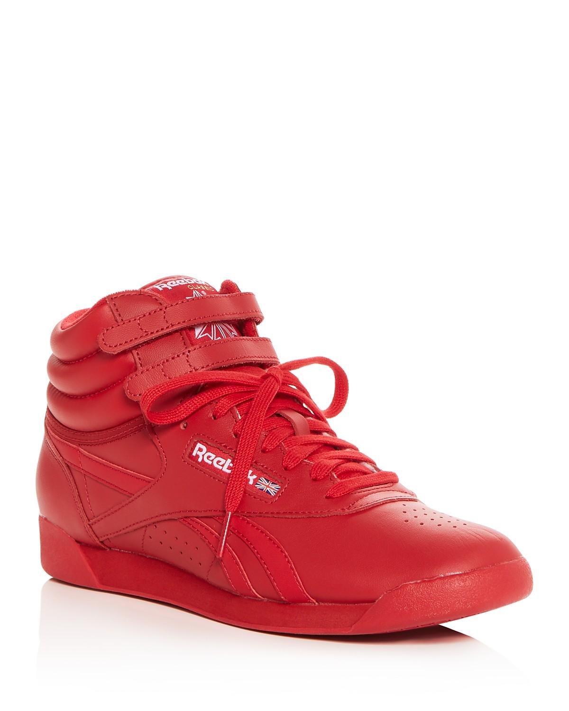 Reebok Women's Freestyle Hi Spirit Leather High Top Sneakers VA0iaBX6