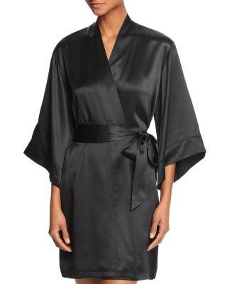 $GINIA Silk Kimono Robe - Bloomingdale's