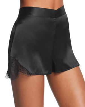 GINIA SCALLOPED LACE SILK SHORTS