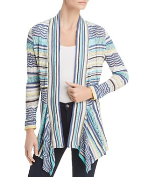 NIC and ZOE - Good Vibe Striped Lace Cardigan