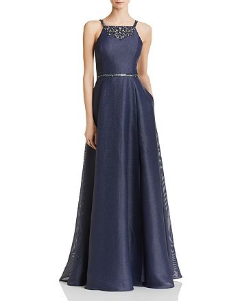 Aidan Mattox - Embellished Shimmer Gown