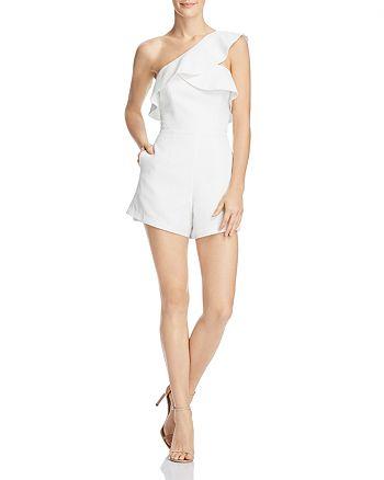 Bardot - Ruffled One-Shoulder Romper - 100% Exclusive