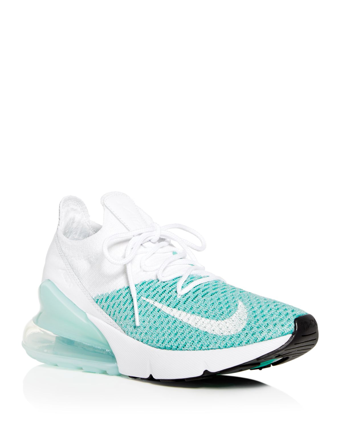 Women's Air Max 270 Flyknit Lace Up Sneakers by Nike