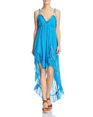 KARINA GRIMALDI Saralyn Printed High/Low Dress in Multi Floral Blue