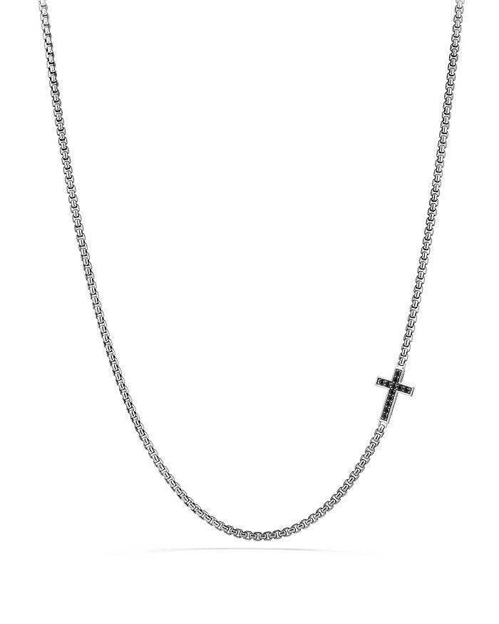 David Yurman - Pavé Cross Necklace with Black Diamonds