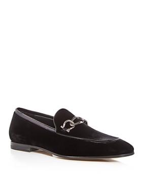 Salvatore Ferragamo - Men's Velvet & Patent Leather Apron Toe Loafers