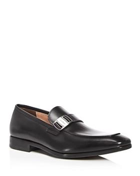 Salvatore Ferragamo - Men's Leather Apron Toe Loafers