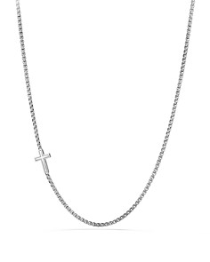 David Yurman - Pavé Cross Necklace with Black Diamonds