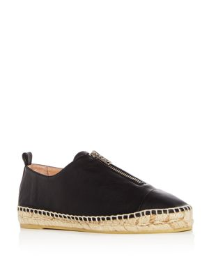 ANDRE ASSOUS Women'S Ciara Leather Espadrille Flats in Black