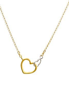 """Dogeared - Linked Heart Necklace, 18"""""""