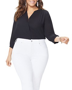 NYDJ Plus - Marilyn Cropped Jeans in Optic White