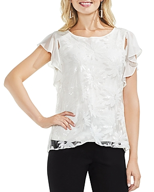 Vince Camuto Sequin-Floral Top