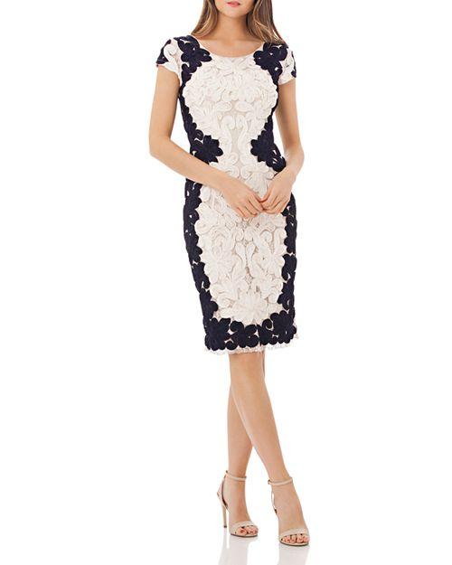 JS Collections - Soutache Lace Cocktail Dress