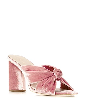 Loeffler Randall - Women's Coco Velvet High-Heel Slide Sandals