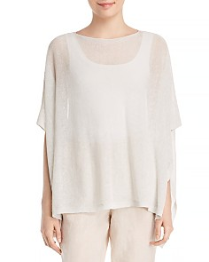 Eileen Fisher Sheer Shimmer Poncho - Bloomingdale's_0