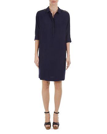 Gerard Darel - Diva Lace-Trimmed Shirt Dress