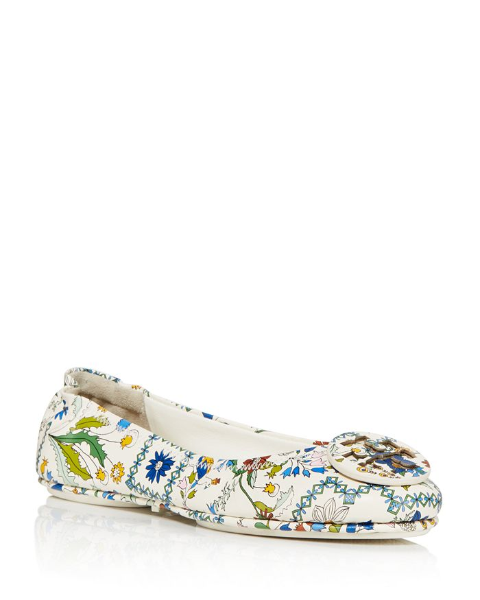 8c5c45460967b6 Tory Burch Minnie Ivory Meadow Folly Travel Ballet Flats ...