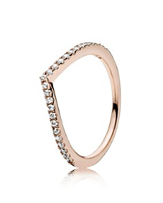 PANDORA Rose Gold-Tone Sterling Silver Shimmering Wish Ring - Bloomingdale's_0