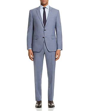 Boss Huge/Genius Slim Fit Small Check Suit