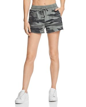 Camo Drawstring Shorts in Green