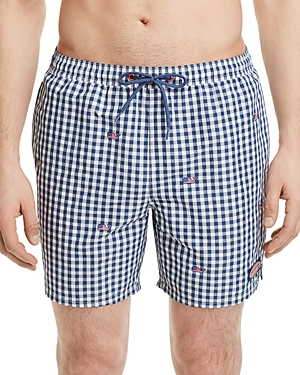 Vineyard Vines Flag Whale Embroidered Swim Trunks