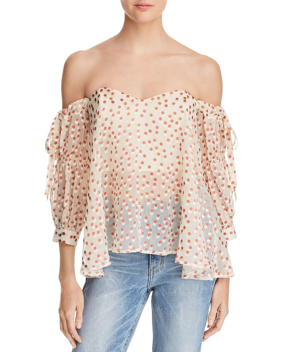 Jillian Burnout Off The Shoulder Top by Astr The Label