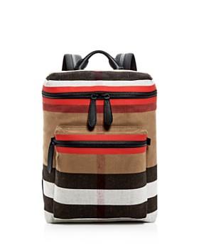 Burberry - Donny Canvas Check Backpack