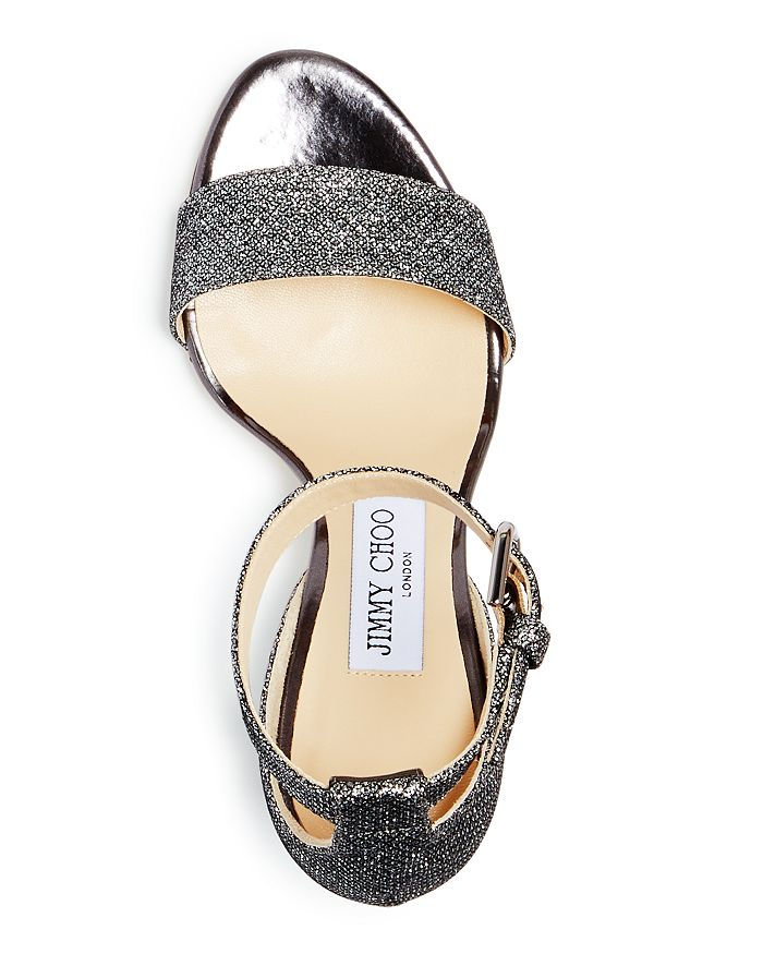 c4411bdacac Jimmy Choo - Edina 85 Glitter Cutout Wedge Sandals