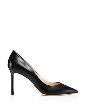 Jimmy Choo - Women's Romy 85 Leather Pointed Toe High-Heel Pumps