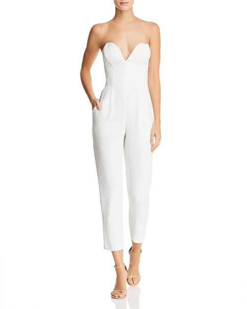 Amanda Uprichard Cherri Strapless Jumpsuit Bloomingdales