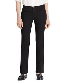 Ralph Lauren - Modern Curvy Straight-Leg Jeans in Black