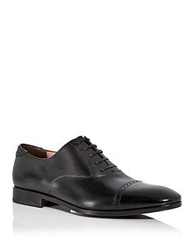 Salvatore Ferragamo - Men's Boston Leather Brogue Cap Toe Loafers