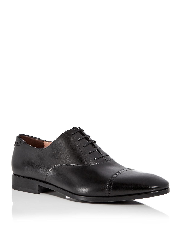 Salvatore FerragamoMen's Boston Leather Brogue Cap Toe Loafers