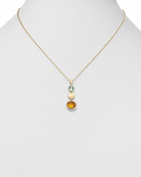 """Bloomingdale's - Citrine & Blue Topaz Round Pendant Necklace in 14K Yellow Gold, 18"""" - 100% Exclusive"""