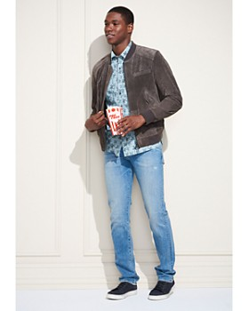 Michael Bastian - Palm Tree Short Sleeve Shirt - 100% Exclusive