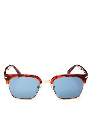 Persol Men's Polarized Square Sunglasses, 53mm